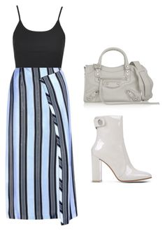 """""""Std"""" by mohsh ❤ liked on Polyvore featuring Topshop, Acne Studios, Gianvito Rossi and Balenciaga"""