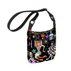 JulieAppple Side Saddle over the shoulder or cross-body bag in Space Race $48