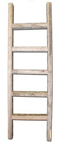 Rustic Decor features rustic frames and barn wood accessories made from reclaimed wood. Reclaimed wood is also often called barnwood or barn wood as well. Wooden Ladder Decor, Old Wood Ladder, Rustic Ladder, Rustic Barn, Rustic Decor, Wooden Ladders, Bamboo Ladders, Vintage Ladder, Houses