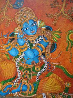ദേവകല ---- mural paintings: Mural painting -Krishna