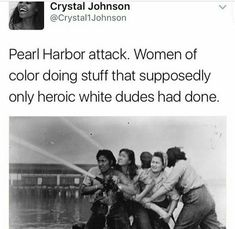 Women of color AND not of color. There are both in this picture. Please include everyone you racist little shit.
