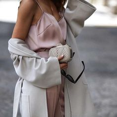 Perfect Match: Take style cues from the lovely @shortstoriesandskirts who combines a blush ESCADA camisole with slate-toned separates; a key combination in the FW17 collection, available now online. #ESCADA#EverydayESCADA