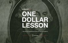 Kaspersky Lab — One Dollar Lesson (craft) One Dollar, Cool Websites, Web Development, Storytelling, Really Cool Stuff, Web Design, Infographics, Kendall, Lab