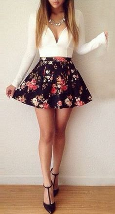 #summer #fashion / skater skirt