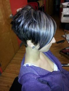 short hair LOVE...With blonde and red highlights and brown lowlight..I am n love with this cut!!!