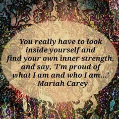 A quote by The Inspirational ~ Mariah Carey! Cure 4 EPILEPSY!