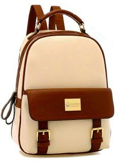 Retro Cute Leisure Mixing Color Backpack Bag