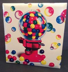 Lisa Frank Vtg 1988 Gumball Machine Gum Scrapbook Album Coverset Bubbles | eBay