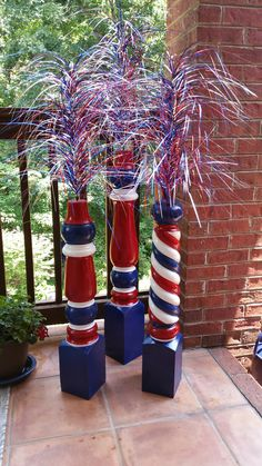 4th July Crafts, Fourth Of July Decor, 4th Of July Decorations, Patriotic Crafts, 4th Of July Parade, July 4th, Summer Crafts, Holiday Crafts, Happy 4 Of July