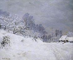 La Route devant la ferme Saint-Siméon, l'hiver (C Monet - W 79)