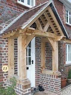 Jolly widened entrance porch design Buy this item Front Door Canopy, Porch Canopy, Front Door Porch, Porch Roof, Cottage Porch, Cottage Exterior, House With Porch, House Front, Porches
