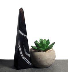Black Agate Obelisk