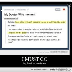 My heart says no more school but my brain says no   #dw #doctorwho #whovian #fandom #bananasAREcool by bananas__are__cool