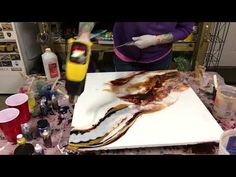 Resin contemporary modern painting - YouTube