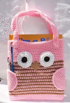 Back to School Pink Owl Tote for Holiday by CaliforniaSweetPeas, $19.00
