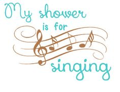 If your shower is for showering...this wall decal isnt for you...but if youre whimsical and love to have a private concert like me (mainly because my family wont allow me to sing anywhere else) then go ahead...choose your colors and well have it right to ya!  This My shower is for singing wall decal comes in 12 inches and various colors of permanent self-adhesive vinyl. It will be shipped with easy application instructions. If youd like a different size decal, please request a customization…