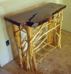 handmade walnut log table | walnut end table handcrafted walnut end table our handcrafted rustic ...