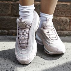 best website 28bd1 3a1ca Nike Air Max 97 Trainers Rust Pink Particle Rose White Gltter F - Hers  trainers
