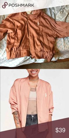 Urban Outfitters Silence &Noise Pink Bomber Jacket Urban Outfitters Silence & Noise Pink Bomber Jacket only worn once. Not really my style anymore. Size Medium but could fit small. Urban Outfitters Jackets & Coats Blazers
