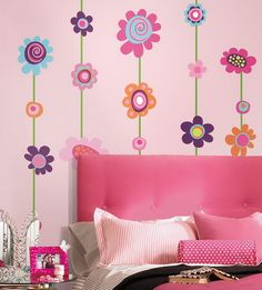 Beautiful-Pink-Flowers-Wall-Murals-Stickers-for-Teenagers-Girls-Pink-Bedroom-Decorating-Ideas.jpg (422×467)