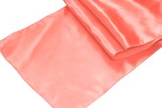 Satin Table Runner - Coral ● As Low as $1.49