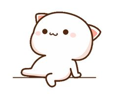 Cute Love Pictures, Cute Love Gif, Cute Cat Gif, Gif Kawaii, Kawaii Cat, Cute Bear Drawings, Cute Kawaii Drawings, Cute Cartoon Pictures, Cute Love Cartoons