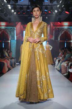 Apr 2020 - Buy Chanderi Silk Kurta Lehenga Set by Joy Mitra at Aza Fashions Indian Gowns Dresses, Pakistani Dresses, Pakistani Bridal, Bridal Dresses, Pakistani Suits, Punjabi Suits, Indian Bridal, Kurta Lehenga, Anarkali Dress