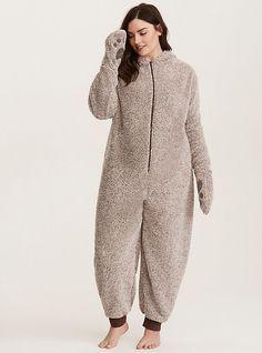 Pjs, Pajamas, Torrid, Overalls, Onesies, Women Wear, Normcore, Sleep, Beige