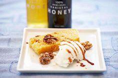 Buckwheat Honey with Cornbread and Walnuts