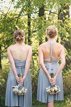 Top Brands For Convertible Bridesmaid Dresses ❤ See more: http://www.weddingforward.com/convertible-bridesmaid-dresses/ #weddings