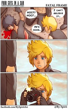 Final Fantasy XV Credits to the artist Final Fantasy Funny, Final Fantasy Xv Prompto, Final Fantasy Artwork, Fantasy Series, Fantasy World, Final Fantasy Xv Wallpapers, Fatal Frame, Video Games Funny, Funny Games