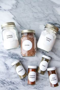 Organize Your Spice Rack (FREE PRINTABLES!) from MomAdvice.com...I big puffy heart printables!