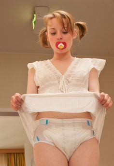 adult-baby girl abdl with cuties pigtails