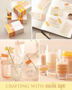 Ideas for washi tape - invites and present wrapping