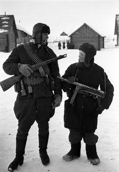 Briansk region partisans, 1943. Briansk region, Russia. WW2.