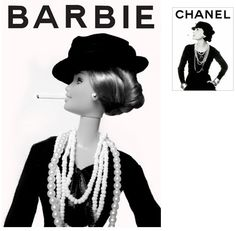 Coco Chanel et Barbie WITH A CIGARETTE IN HER MOUTH SO CLASSIC 60'S