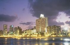 Durban, South Africa beachfront at night :-)