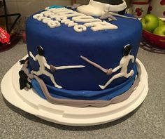 Fencing cake! #fencing#cake Cupcake Cookies, Cupcakes, Party Central, Novelty Cakes, Decorated Cakes, Fencing, Delish, Cake Decorating, Birthdays