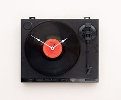Clock created from a recycled Pioneer Turntable $119