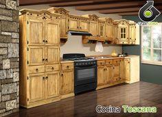 resultado de imagen para gabinetes de cocinas rusticas - Muebles De Cocina Rusticos