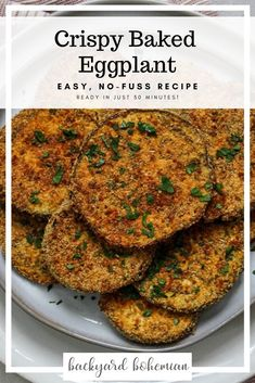 Nov 2019 - Crispy oven baked eggplant cutlets are the perfect Italian side dish. Sliced eggplant is coated in a breadcrumb and parmesan cheese mixture and crisped to perfection. Baked Eggplant Cutlets I have eaten far too many Oven Baked Eggplant, Baked Eggplant Recipes, Crispy Eggplant, Baked Eggplant Parmesan, Eggplant In The Oven Recipe, Italian Eggplant Recipes, Baked Eggplant Slices, Vegan Eggplant Parmesan, Cooking Eggplant