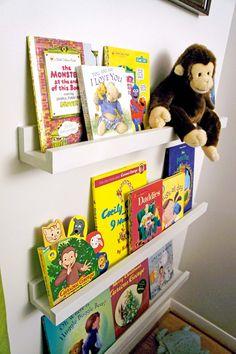 $10 Ledge Plans make great Nursery Book Shelves