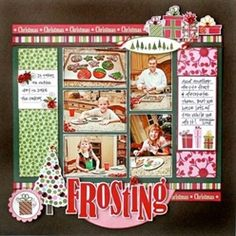 Bella Blvd Christmas cookie baking scrapbook layout