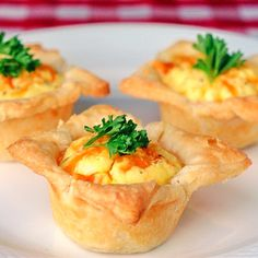Bacon and Cheddar Mini Quiches...sour cream pastry
