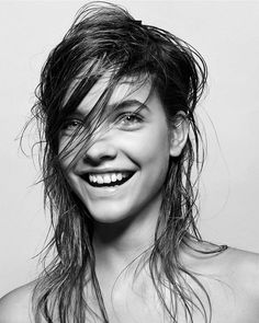 This just leaves us wondering why our hair can't look that good when wet.--Photographer: Zoltan TomborHair Stylist: Tamas TuzesMakeup by: Robert Greene via @WhoWhatWear