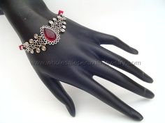 Red Murano Glass Bracelet   http://www.wholesaleperuvianjewelry.com/