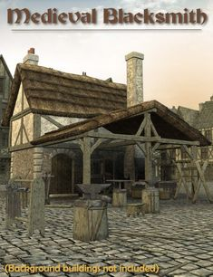 Medieval Blacksmith is a script/utility, cityscape/building, props, historical, architecture for Daz Studio or Poser created by Faveral.