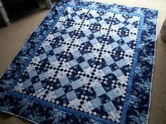 You have to see Winter Blues Quilt by patz in suffolk! Description from…