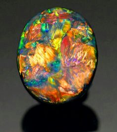Very Fine Black Opal from Lightning Ridge, Australia. I think opal is my favorite stone Minerals And Gemstones, Rocks And Minerals, Mineral Stone, Opal Mineral, Beautiful Rocks, Stones And Crystals, Gem Stones, Rocks And Gems, Bunt