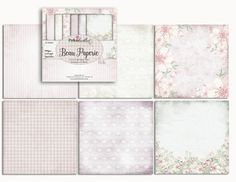 """Belle Papillion 6""""x6"""" paper pad  http://www.polkadoodles.co.uk/craft-store/paper-kits-collections/belle-papillon-paper-craft-kit/"""
